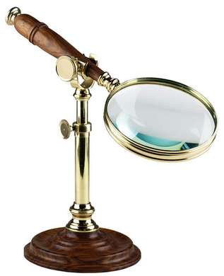 Brass magnifying Glass on stand