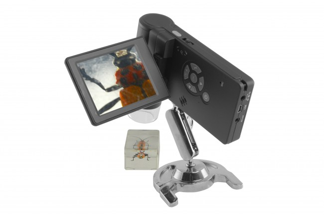 Portable USB Digital Microscope 10x to 500x Magnification, 5.0 Megapixel