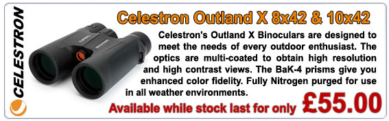 Celestron's mid-size Outland Series was designed to meet the needs of every outdoor enthusiast, from birders and hunters to sports fans to travelers.