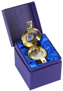 Francis Barker M73 Brass Presentation Compass