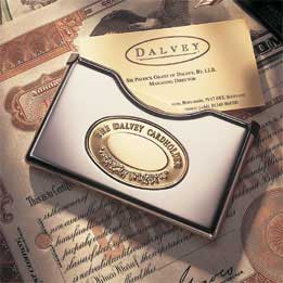 THE DALVEY BUSINESS CARD HOLDER