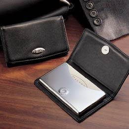 THE DALVEY LEATHER BUSINESS CARD HOLDER