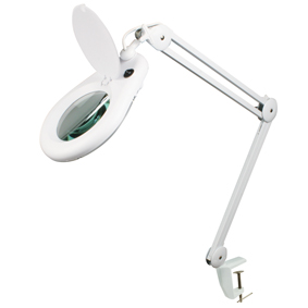 Daylight Balanced swing arm desk magnifier