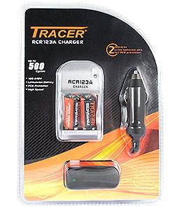 Compact Li-Ion CR123A Charger Kit
